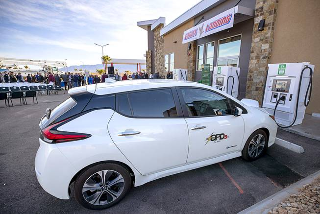 Nevada nears completion of electric-vehicle charging network