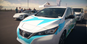 Electric vehicles available for test drives during the Nevada Transportation Electrification Forum held in early 2020.
