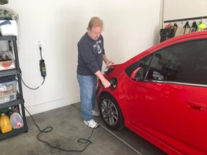 Plugging in a red Chevy Spark